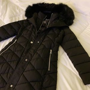 Calvin Klein Faux Fur Puffer Coat